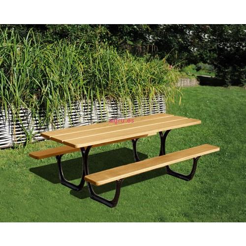 Mesa de picnic sevilla for Sillas para jardin home depot